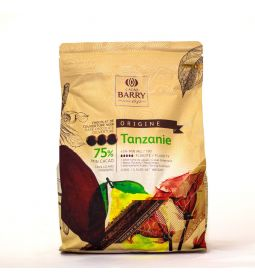 Cacao Barry Chocolate Tanzania 75% pistols bolsa 2.5kg