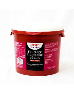 DGF Mermelada de frambuesa con semilla cubeta 7kg