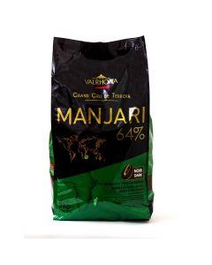 Valrhona Chocolate Manjarí 64% boton bolsa 3kg